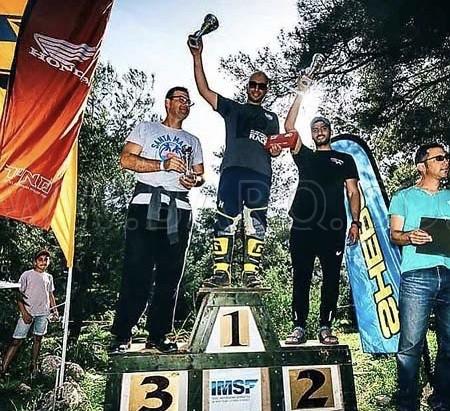 Photo of ابراهيم محمد ابو غنيم الزبارقة حصد المرتبة الاولى في سباق الدراجات النارية