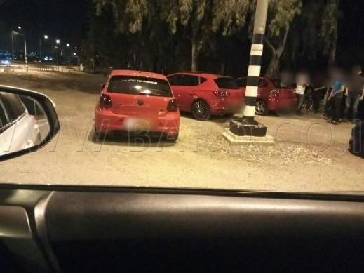 Photo of احباط سباق السيارات المعدلة في وادي عارة وشارع 65
