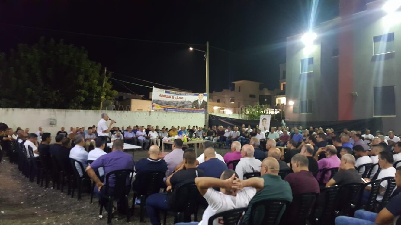 Photo of كفرقرع : اجتماع مهيب لمرشح الرئاسة باسم كناعنة