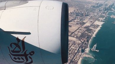 Photo of بعد 4 ساعات بالطيران الامارتية 🇦🇪 حان وقت الهبوط في مطار دبي الدولي 😍 اكبر  مطار بالعالم .