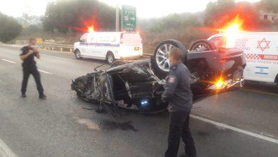 Photo of حادث طرق ذاتي على شارع 65 مفرق #كفرقرع  وهروب السائق من المكان