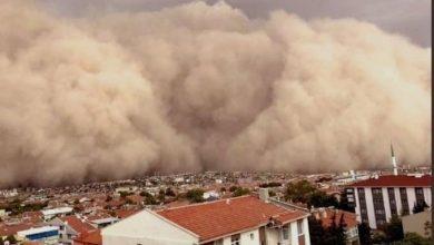 Photo of عاصفة رملية شديدة تضرب العاصمة التركية أنقرة، وتغطي سماءها