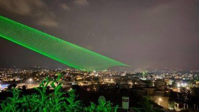 Photo of اضاءة سماء كفر قرع بالليزر احتفاءً بانطلاقة العام الدراسي الجديد