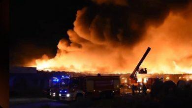 Photo of إجلاء المئات جراء حريق في ميناء لو هافر شمال فرنسا