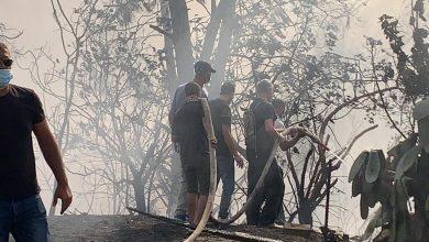 Photo of #كفرقرع :اندلاع حريق كبير وإخلاء عدد من المنازل بحي العرق