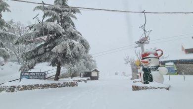 Photo of الثلوج تكسو الجولان وبيت جن أمطار غزيرة ورياح في انحاء البلاد