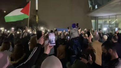 Photo of حيفا: الصلح تنظر في إعتقال معتقلي مظاهرة أم الفحم والمئات يتظاهرون أمام المحكمة