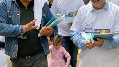 Photo of دعم شعبي مُلفت لحملات توزيع نشرات المشتركة في بلدات الجليل