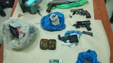 Photo of ضبط اسلحة وذخيرة في مدينة قلنسوة