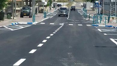 Photo of كفرقرع : تعبيد شارع صلاح الدين طريق المدرسة الثانوية