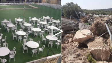 Photo of قوات معززة من الشرطة تداهم عين ماهل وتهدم منتزه وقاعة افراح